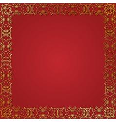 gold floral frame vector image