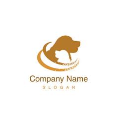 Golden retriever logotype vector