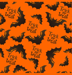 halloween pattern with bats vector image