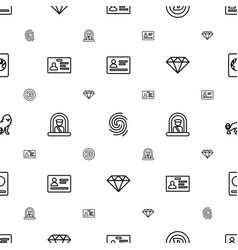 Identity icons pattern seamless white background vector