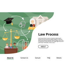 judge justice law court landing web page vector image