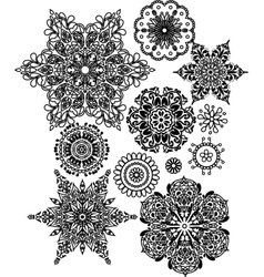 Lacy arabesque designs vector