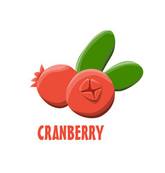 Logo cranberry farm design vector