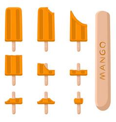Logo for natural mango ice cream vector