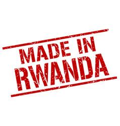 Made in rwanda stamp vector