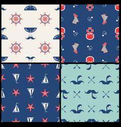 Marinel seamless pattern vector