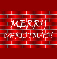 Merry christmas - white and red vector