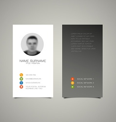 Modern simple light business card template vector