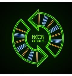 Neon arrows vector image