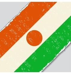 Niger grunge flag vector