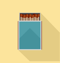 open matches box icon flat style vector image
