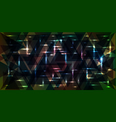 pattern of shimmering starry sky in green and vector image