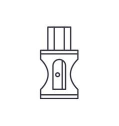 pencil sharpener line icon concept pencil vector image