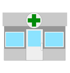 pharmacy building on white background vector image