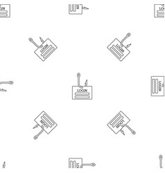 Phishing login pattern seamless vector