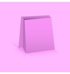 Pink paper bag vector image
