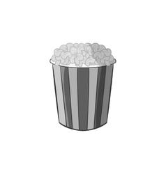 Popcorn icon black monochrome style vector image