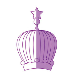 Queen or king crown vector
