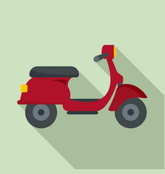 red scooter delivery icon flat style vector image