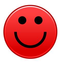 Red smiling face cheerful smiley happy emoticon vector