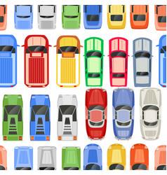 retro cars seamless pattern retro auto design vector image