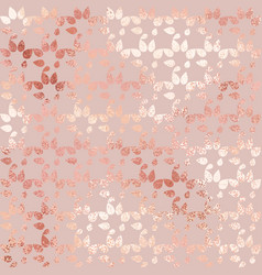 Rose gold luxurious texture with an abstract vector