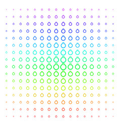 ruby ring shape halftone spectrum grid vector image