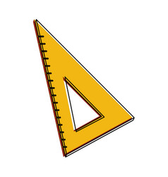 school triangle ruler vector image