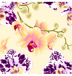 seamless texture orchids yellow and spotted vector image