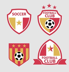 set of badges and labels soccer football club vector image