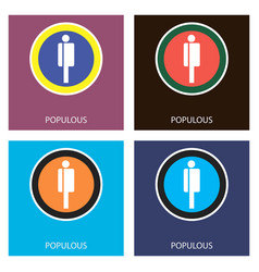 Set of physical golden coin populous ppt digital vector