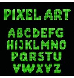 Set pixel letters vector