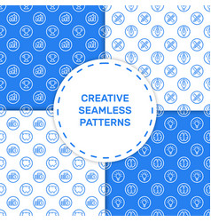 Set seamless pattern with vector