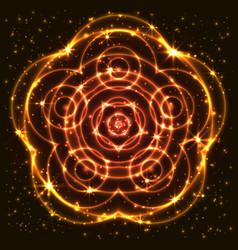 Shining abstract mandala vector