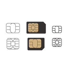 sim card symbol cellular gsm icon vector image