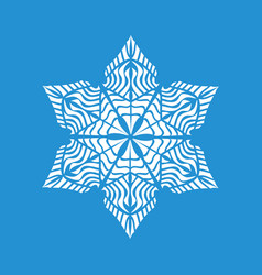 Small snowflake icon simple style vector