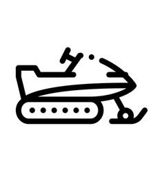 Snowmobile icon outline vector