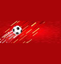 soccer ball web banner for special sport event vector image