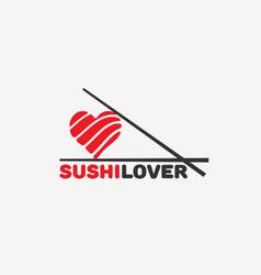 Sushi lover logo vector