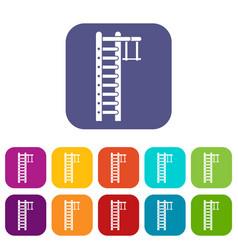 Swedish ladder icons set vector