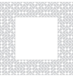 Template frame with pattern background vector image