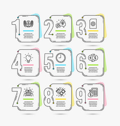time gift and payment icons laureate award vector image