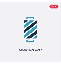Two color cylindrical lamp icon from woman vector