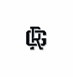Typographic logo with letters r and g vector