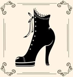 Vintage ladies shoe vector
