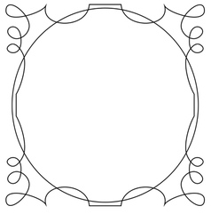 frame on a white background vector image vector image