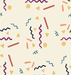 Party seamless pattern with streamers and confetti vector image