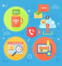 social network and social media flat concept vector image