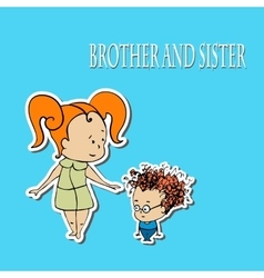 Stock brother and sister greetings vector image vector image