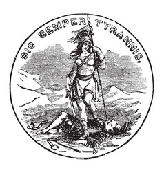 the official seal of the us state of virginia in vector image vector image